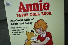 ANNIE Paper Doll Book by VintagebyViola on Etsy, $7.00