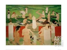 The Pool on a Summer's Eve Giclee Print by Félix Vallotton at Art.com
