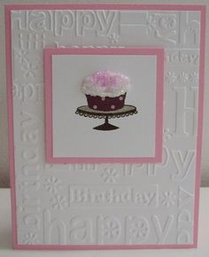 Cuttlebug Birthday embossing folder.