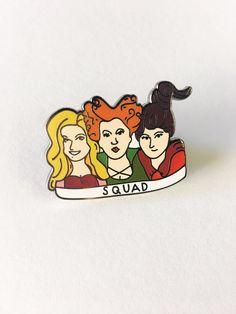 "New! ""Hocus Pocus-Squad"" Enamel Pin, Enamel, Hard Enamel, Pins, Hocus Pocus by ShopJosieB on Etsy https://www.etsy.com/listing/480669095/new-hocus-pocus-squad-enamel-pin-enamel"