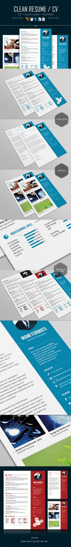 Resume Template Vector EPS, AI Illustrator, MS Word Resume - illustrator resume templates