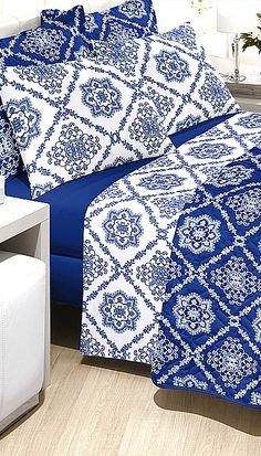 Para você que procura modernidade e estilo com um toque requintado, O Jogo de Cama com uma estampa contemporânea e confecção em 100% algodão com 150 fios que proporciona um toque suave e confortável. #sofisticação #decor #tudolindo #lealtex #decoração #white #blue #lindo #tudonovo #euquero #euamo #decora #home #house #beautiful #bedroom