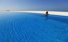 To infinity and beyond! The most amazing swimming pools in the world, from hotel horizon-edge pools to natural lagoons in the rainforest Hotel Swimming Pool, Amazing Swimming Pools, Maldives Resort, Beach Villa, Paradise On Earth, Plunge Pool, Beautiful Hotels, To Infinity And Beyond, Free Travel