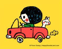 Happy Doodle Land, Flora Chang