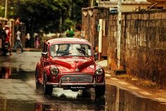 vintage car in Mauritius photography