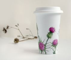 ceramic cocoa or coffee mug. depending on how tired i am.
