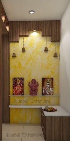 Pooja Room Design, Pooja Rooms, Room Doors, L Shape, Texture Painting, Glass Shelves, Canopy, Furniture Ideas, Backdrops