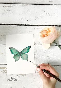 Hey guys! So today I have a free little butterfly printable for you.  It comes in the following sizes: 16x20, 8x10, and 5x7.  Hope you love it! If you use it in your decor, feel free to tag me onin