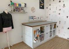 Craft Room Storage, Sewing Rooms, Home Office, Organization, Diy, Crafts, Inspiration, Ikea Kallax, Furniture