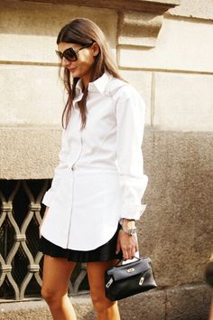 A great take on the white shirt