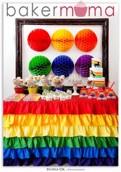 Awesome Dessert Tables & Backdrop Idea