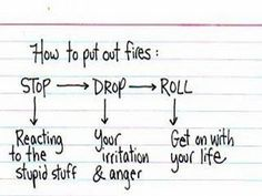 Letting go of your grumpy-mood using the Stop-Drop-Roll Method.  It works!   Susan Ball, NLP Success Coach