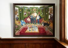 I love everything about the home of writers Ayelet Waldman and Michael Chabon Waldman, but this family portrait by artist Mimi Vang Olsen, featuring their books as well as their children, is amazing! via Remodelista
