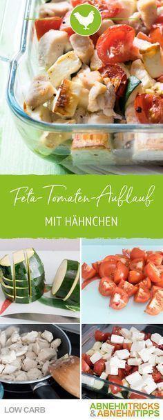 Hähnchen-Tomaten-Zucchini-Feta-Auflauf