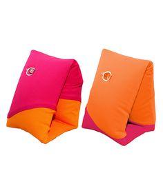 Swimways Pink & Orange Soft Swimmies Arm Floats | zulily