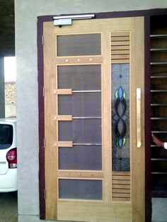 NET DOOR DESIGN: The net door is usually used to stop mosquito or fly, But now the time is changed and the people have to do it for the decoration house Lcd Wall Design, Flush Door Design, Grill Door Design, Door Gate Design, Room Door Design, Door Design Interior, Railing Design, House Main Door Design, Wooden Glass Door