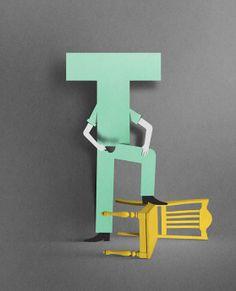 Lyst by Eiko Ojala, via Behance 3d Typography, Lettering, Eiko Ojala, Paper Illustration, Paper Artwork, Best Graphics, Change, Paper Cutting, Graffiti