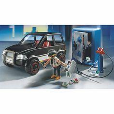 Playmobil thief w safe and getaway car Toys R Us, Kids Toys, Weird Toys, Car, Crackers, Vehicle, Detail, Amazon, Playmobil