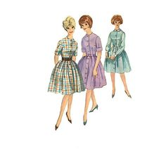 1960s Dress Pattern Simplicity 4519 Bust 36 One by omasbricabrac