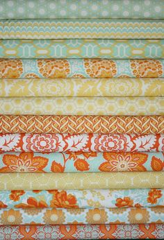 Heirloom Fabric by Joel Dewberry for Free Spirit- Yellow Fat Quarter Bundle,  12 total