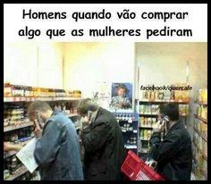 Qdo a gte pede ao marido para ir ao supermercado...