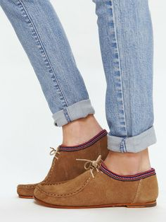 Free People Francesca Moccasin Flat, $110.00. Looks comfy and more feminine than the Clark version