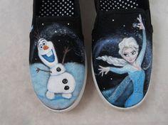 Custom Hand Painted Shoes Frozen by FancyFeetArt on Etsy