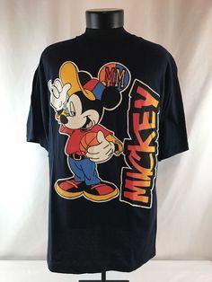 Mickey Mouse Men s Unlimited T Shirt Sz Large Black Rare 90s VTG Summer  Disney  a2b4e06e3