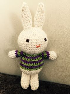 """Crochet bunny (pattern from """"Amigurumi"""" by Lanh-Anh Bui & Josephine Wan) Reserved for Emma and Paul's baby ❤️ Crochet Bunny Pattern, Plushies, Hello Kitty, Baby, Character, Amigurumi, Stuffed Animals, Baby Humor, Infant"""