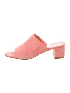 Mansur Gavriel Suede Slide Sandals The Best of women shoes in - Shoes Fashion & Latest Trends Suede Sandals, Shoe Sale, Heeled Mules, Heels, Women's Shoes, Accessories, Eye, History, Sneakers