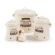 Set Of 3 Vegetable Storer | Kmart