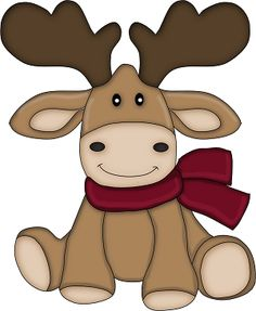 Custom & Decorative Inch} 48 Piece Pack of Mid-Size Stickers for Arts, Crafts & Scrapbooking w/ Christmas Time Scarf Wearing Cartoon Moose Style {Brown, Red, White, & Black} Christmas Applique, Christmas Sewing, Christmas Clipart, Christmas Printables, Christmas Pictures, Christmas Projects, Holiday Crafts, Christmas Decorations, Christmas Ornaments