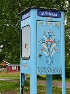 Old swedish telephone booth