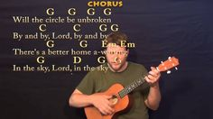 Will the Circle Be Unbroken - Baritone Ukulele Cover Lesson with Chords ...