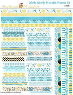 Orinda Weekly Printable Planner Kit 2 PDFs by DigiScrapDelights
