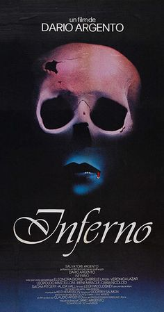 Inferno Italy Century Fox Horror D/Sc: Dario Argento. Horror Movie Posters, Cinema Posters, Movie Poster Art, Horror Films, Poster Poster, Horror Art, 1980 Films, Dario Argento, Post Apocalyptic