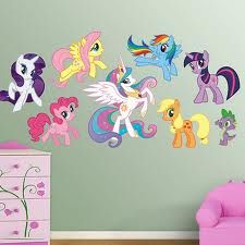 Fathead wall graphics are oversized, enchanting and add perfect personalized touch to existing space. Store is presently offering off any order giving you an opportunity to stock up on must-have Fathead for any room of home. My Little Pony Bedroom, Little Girl Rooms, Hasbro My Little Pony, My Lil Pony, My Little Pony Collection, Pony Wall, Entertainment Wall, Little Poney, My Little Pony Friendship