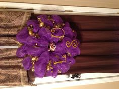 LSU Tiger Deco Mesh Wreath