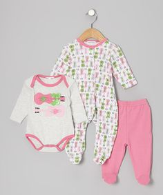 Look what I found on #zulily! Rumble Tumble Pink Guitar Footie Set - Infant by Rumble Tumble #zulilyfinds