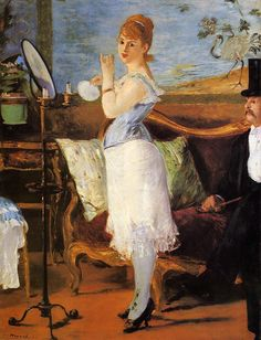 'Nana' is a painting by French painter Édouard Manet. The work is now at the Kunsthalle Hamburg art museum, in Germany. Edouard Manet Paintings, Peter Paul Rubens, Pierre Auguste Renoir, Impressionist Art, Art For Art Sake, Henri Matisse, Claude Monet, Love Art, Oeuvre D'art