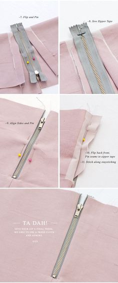 {How to:} Sew an Exposed Zipper (with a seam) - Pattern Runway