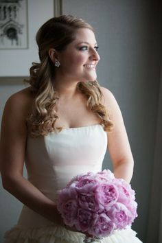 Bride in a suite at the Fairmont Copley Plaza, Boston, MA. www.davidbarnesphotography.com