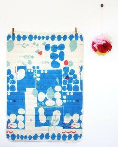 modern wholecloth quilt