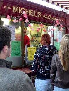 Michel's in Oxford, England. Yummy Brie and Watercress sandwiches.