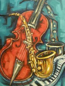 Cuadros Modernos Pinturas y Dibujos : Bodegones Musicales al Óleo (Pintura y Música) Art Pop, Black Love Art, Jazz Club, Art Music, Still Life, Art Photography, Abstract Art, Artsy, Canvas