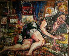 "Saatchi Online Artist  PHILIP LAWRENCE SHERROD NA/- (STREET*PAINTER)-*PAINTING*-..(*PA.*/-..*PLEIN*AIR*!)?(*FOUNDER*/-..-*STREET*PAINTERS)!? TITLE: - ""IMG_1429.JPG""DORIS*DELA*CRUZ/-..ON*42ndST/-..&*43rdST/-..*(NITE!)""?MED: OIL/-CANVAS SIZE: 49"" X 67"" DATE: 1968-artist's(C)*copyrigh"" #art"