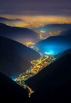 Valley of the Lights, Italy. #Light #Travel #Italy
