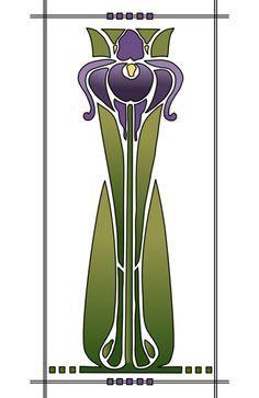 Image result for iris stencil patterns