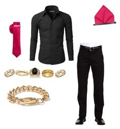 """""""Kellan Piexes (New Homestuck OC for H.I.C)"""" by sopar-not-sober ❤ liked on Polyvore featuring Dockers, Doublju, Alfani, Palm Beach Jewelry, Blue Nile, Topman, men's fashion and menswear"""