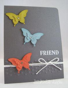 Stampin' Up! Butterfly Friend Card with Sponging Technique